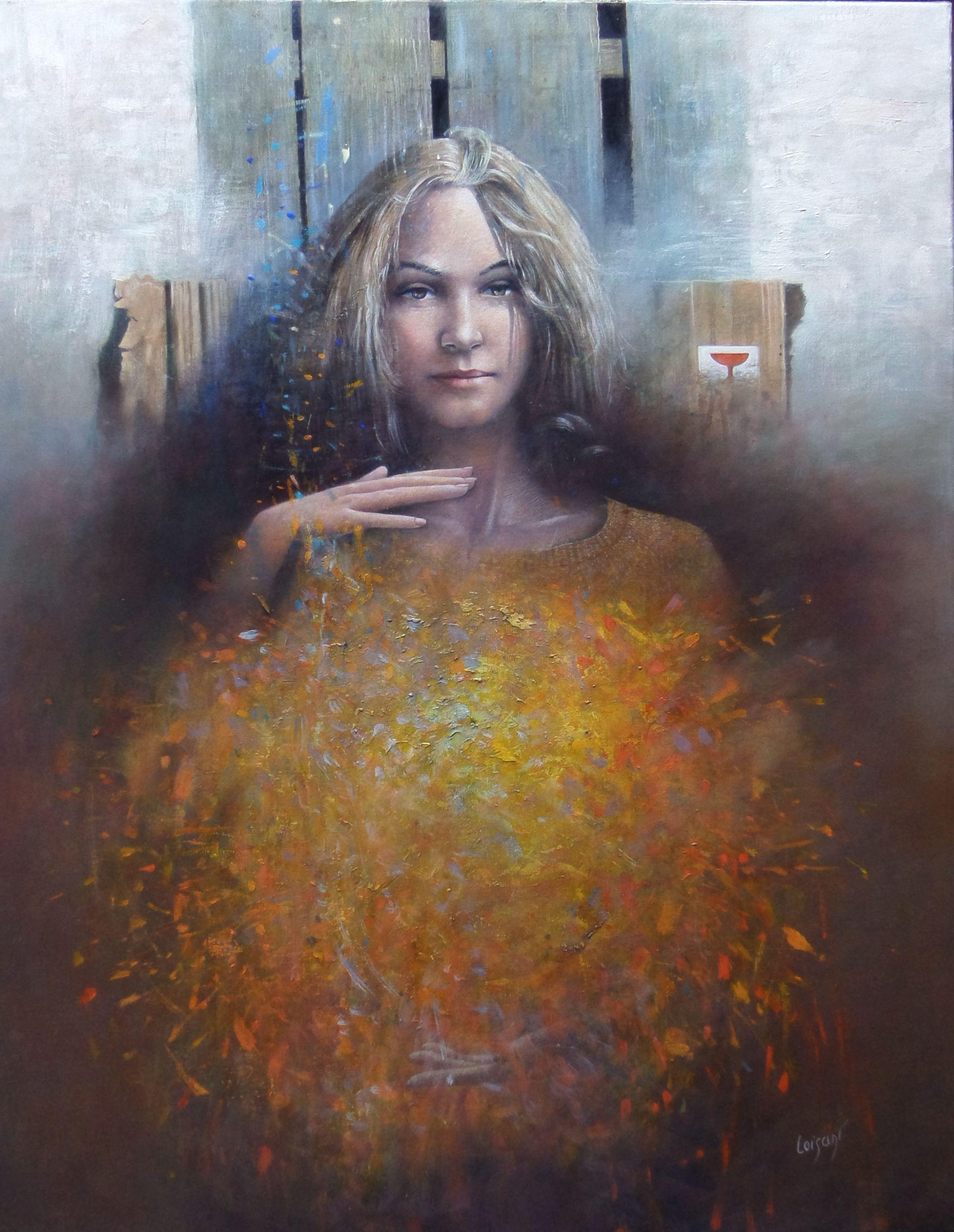 « La muse en formation » 92 x 78 cm