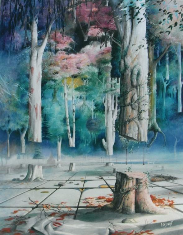 « Quand les arbres nous quitteront 1 » 82 x 72 cm