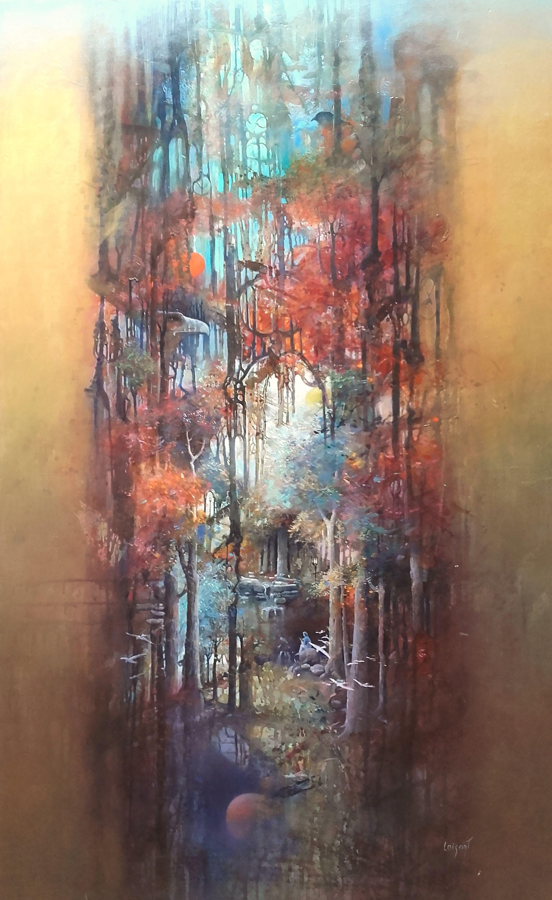 « Guitariste en forêt » 130 x 91