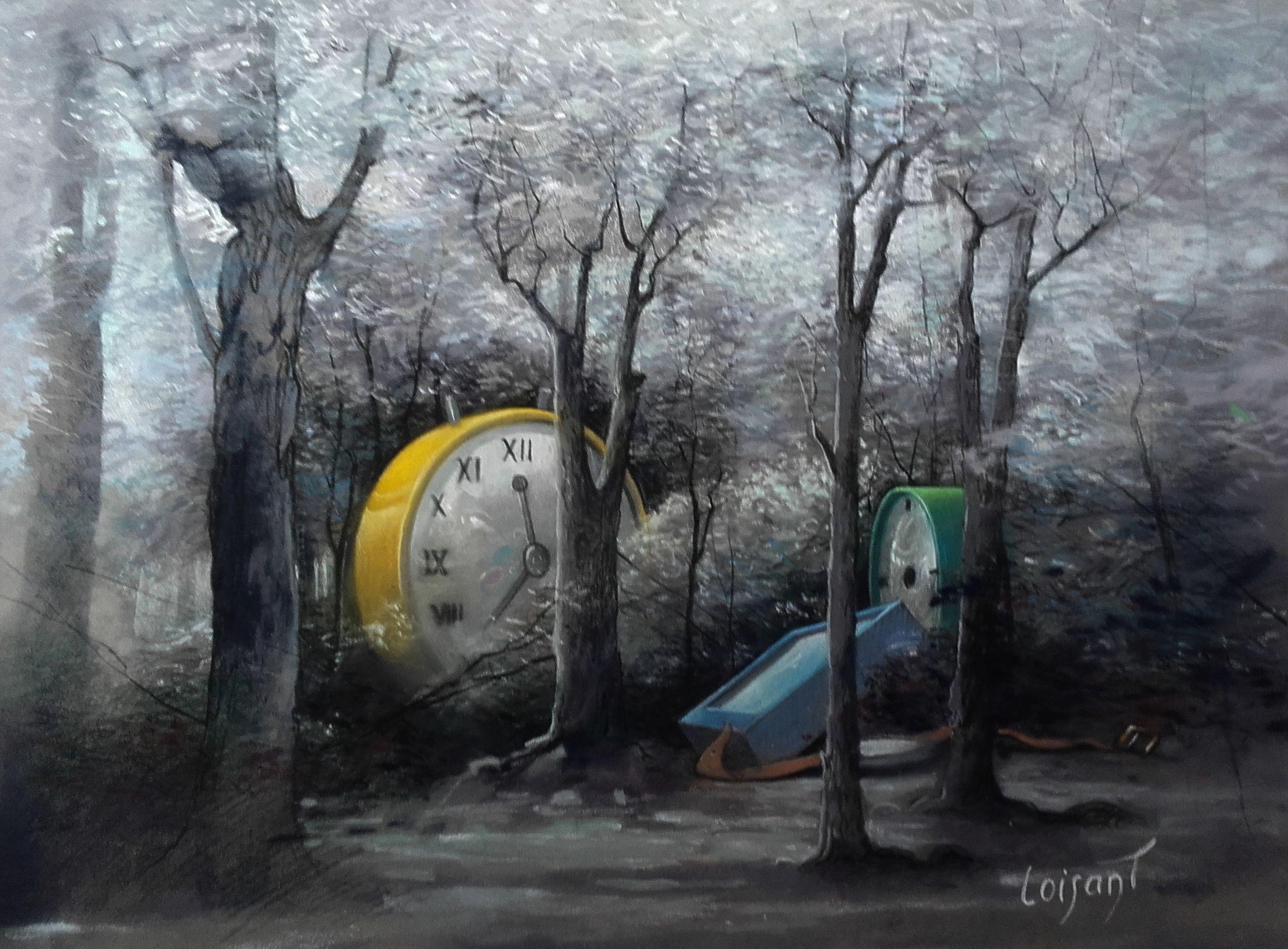 « Le temps se promène » 30 x 40 cm