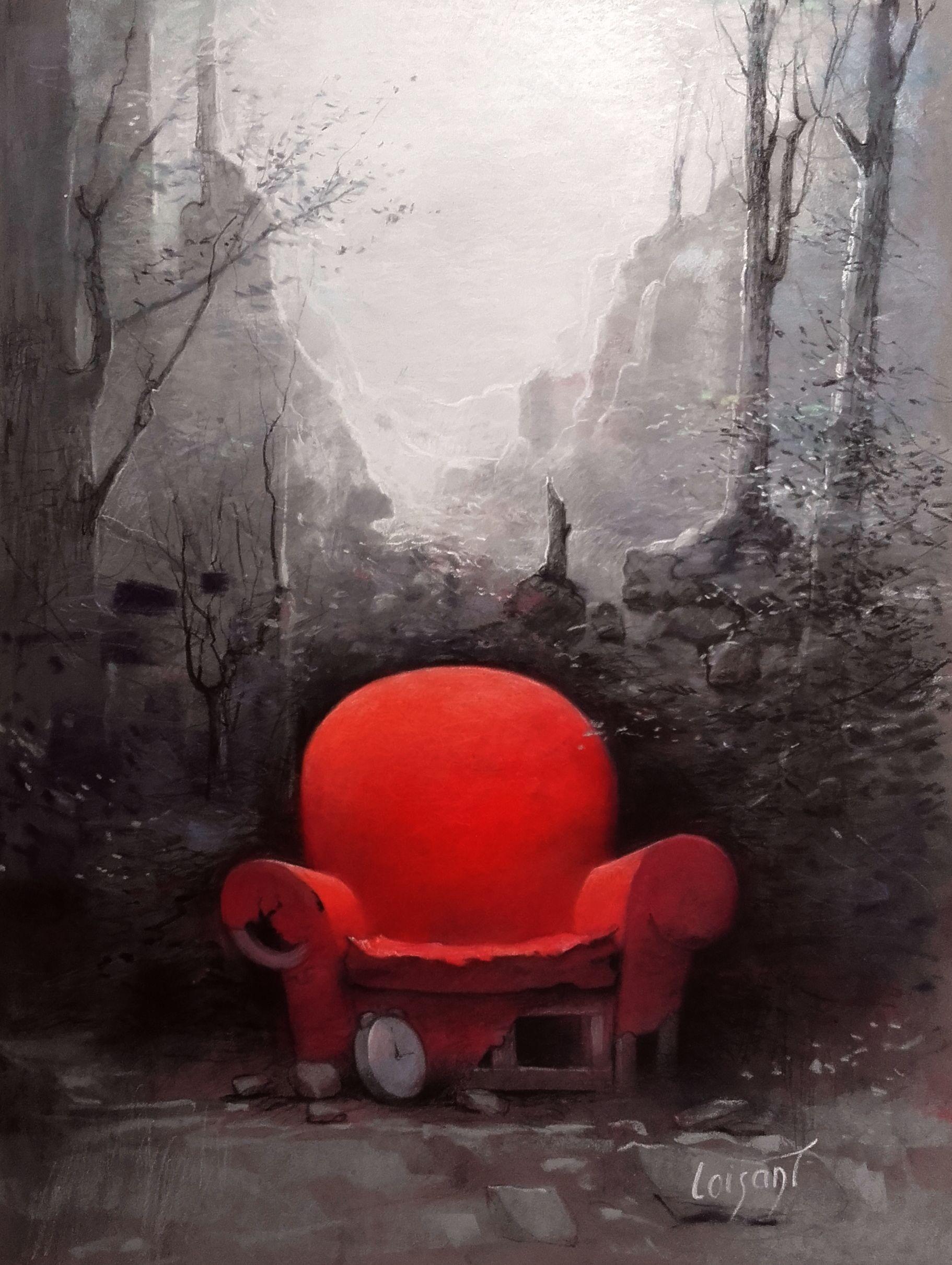 « Fauteuil rouge » 30 x 40 cm