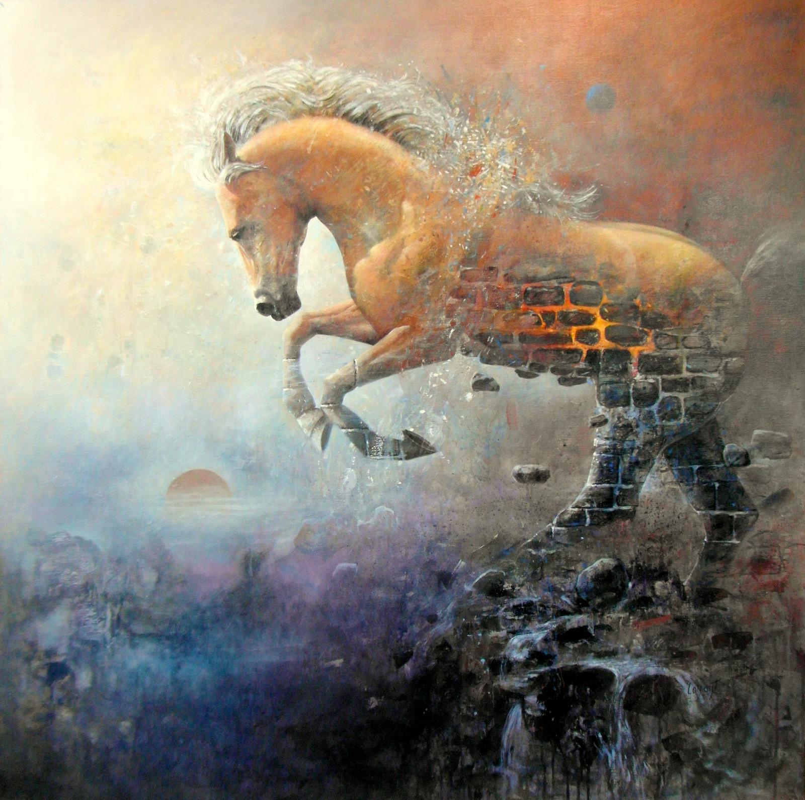 « Puissance » 120 x 120 cm
