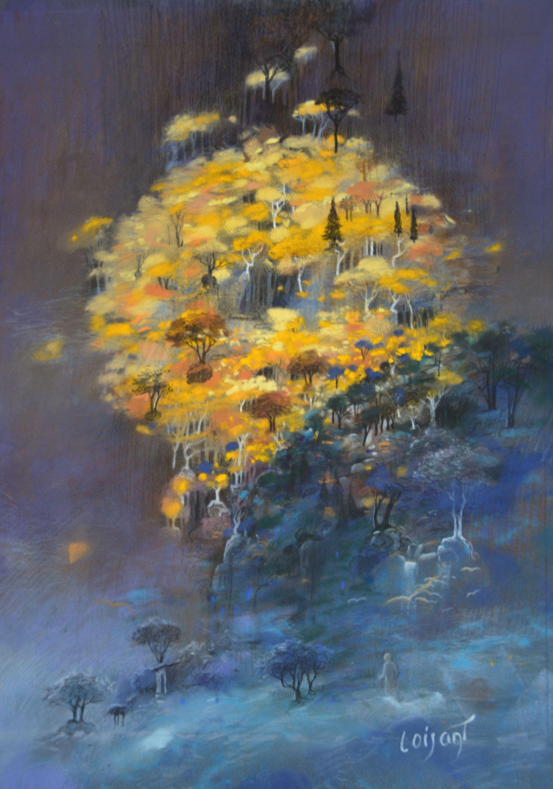 « Levé de soleil » 40 x 30 cm