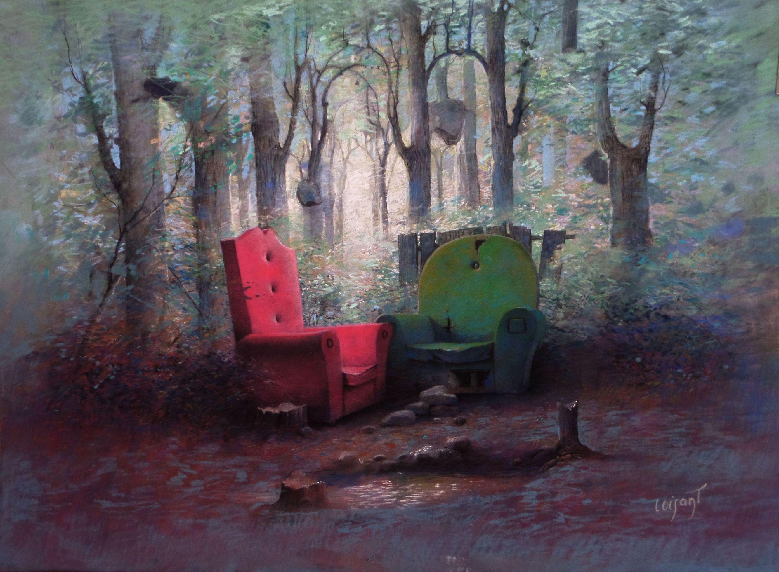 « Le duo » 50 x 70 cm