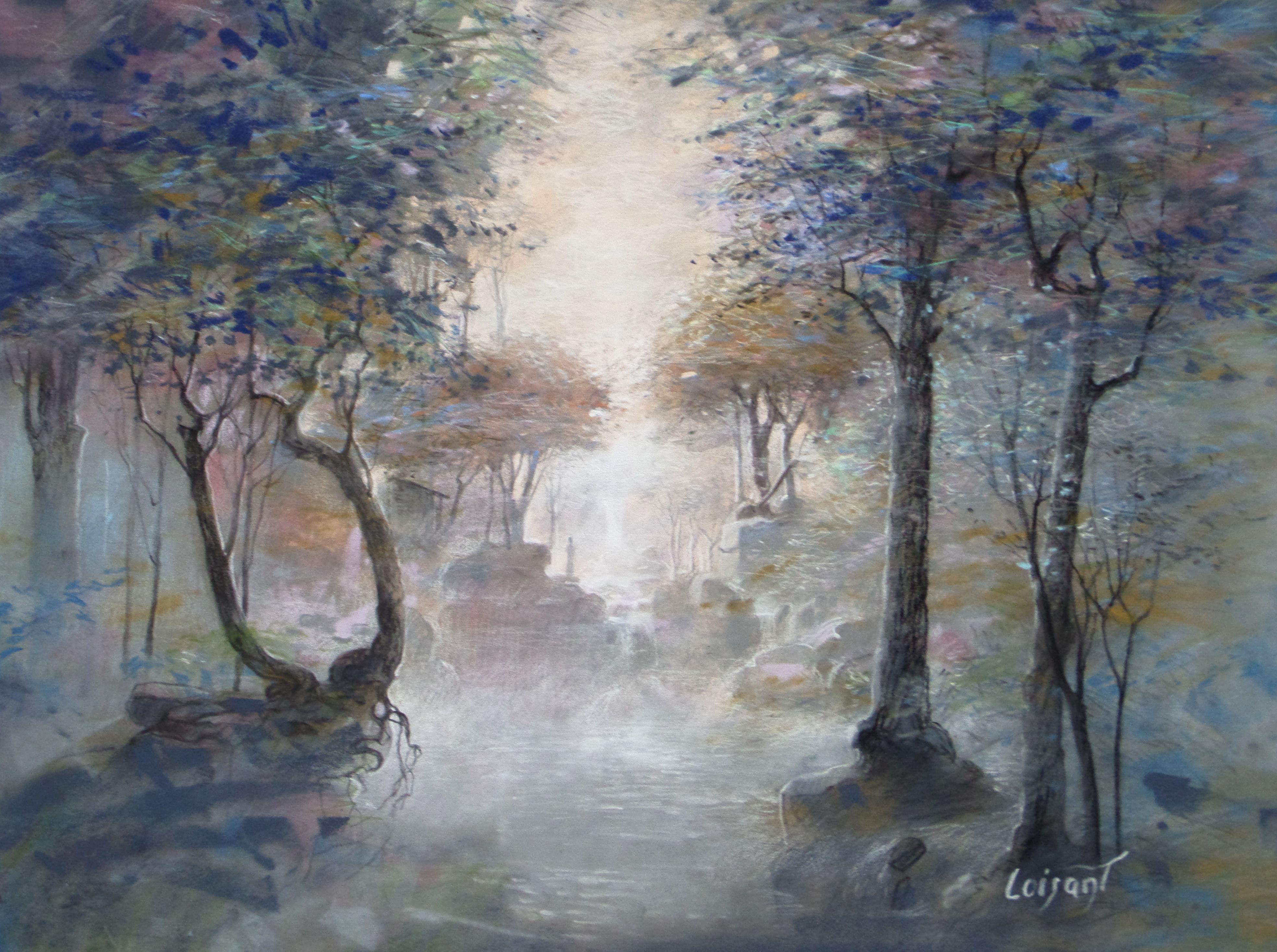 « La vallée lumière » 30 x 40 cm
