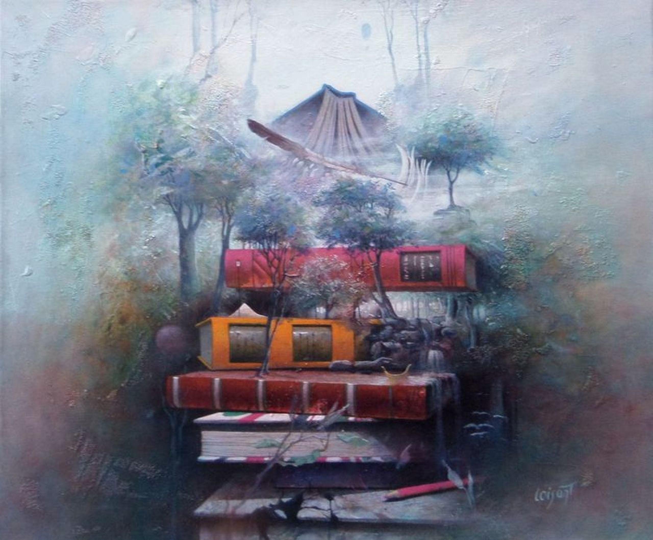 « Pensées lourdes, pensées légères » 54 x 46 cm