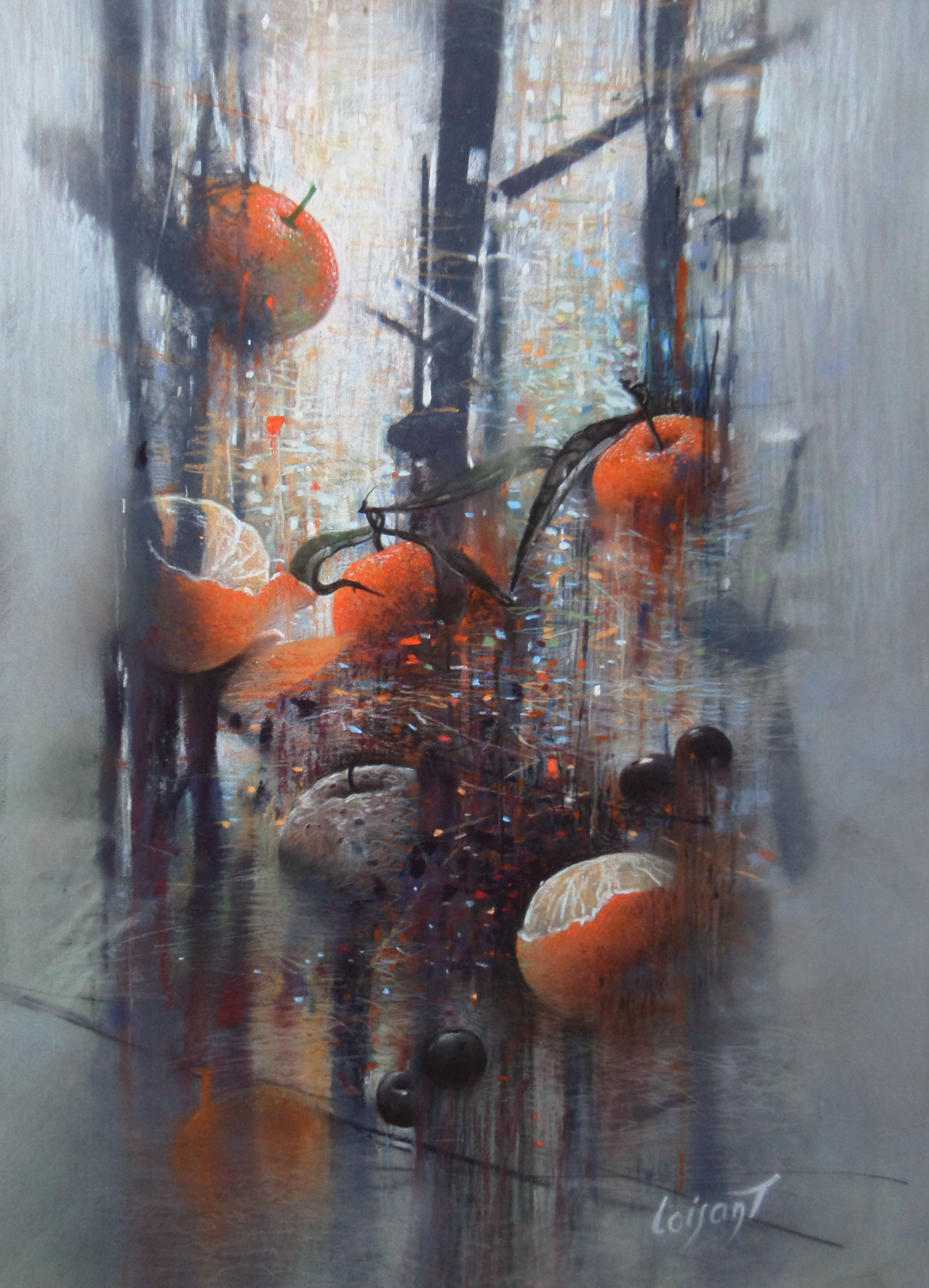 « Bardo des mandarines » 30 x 40 cm