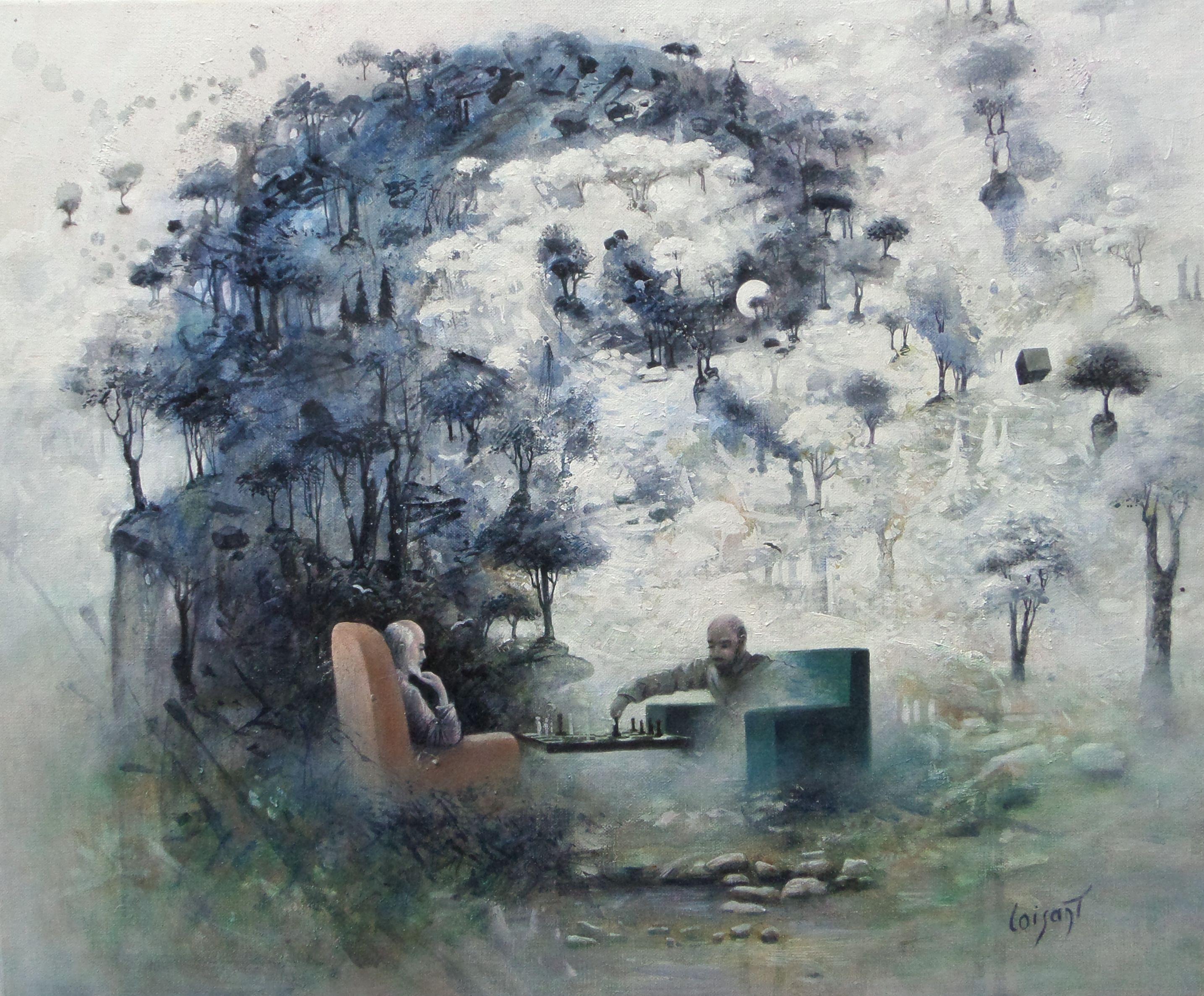 « Les blancs ou les noirs » 54 x 46 cm