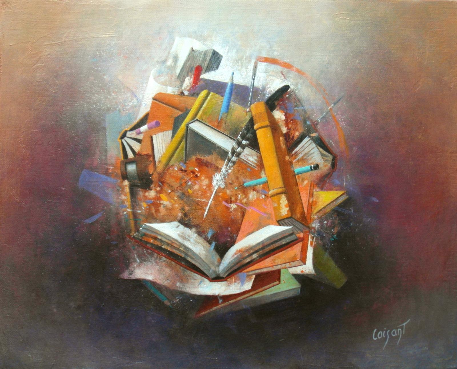 Petite bibliothèque orange 42 x 34 cm