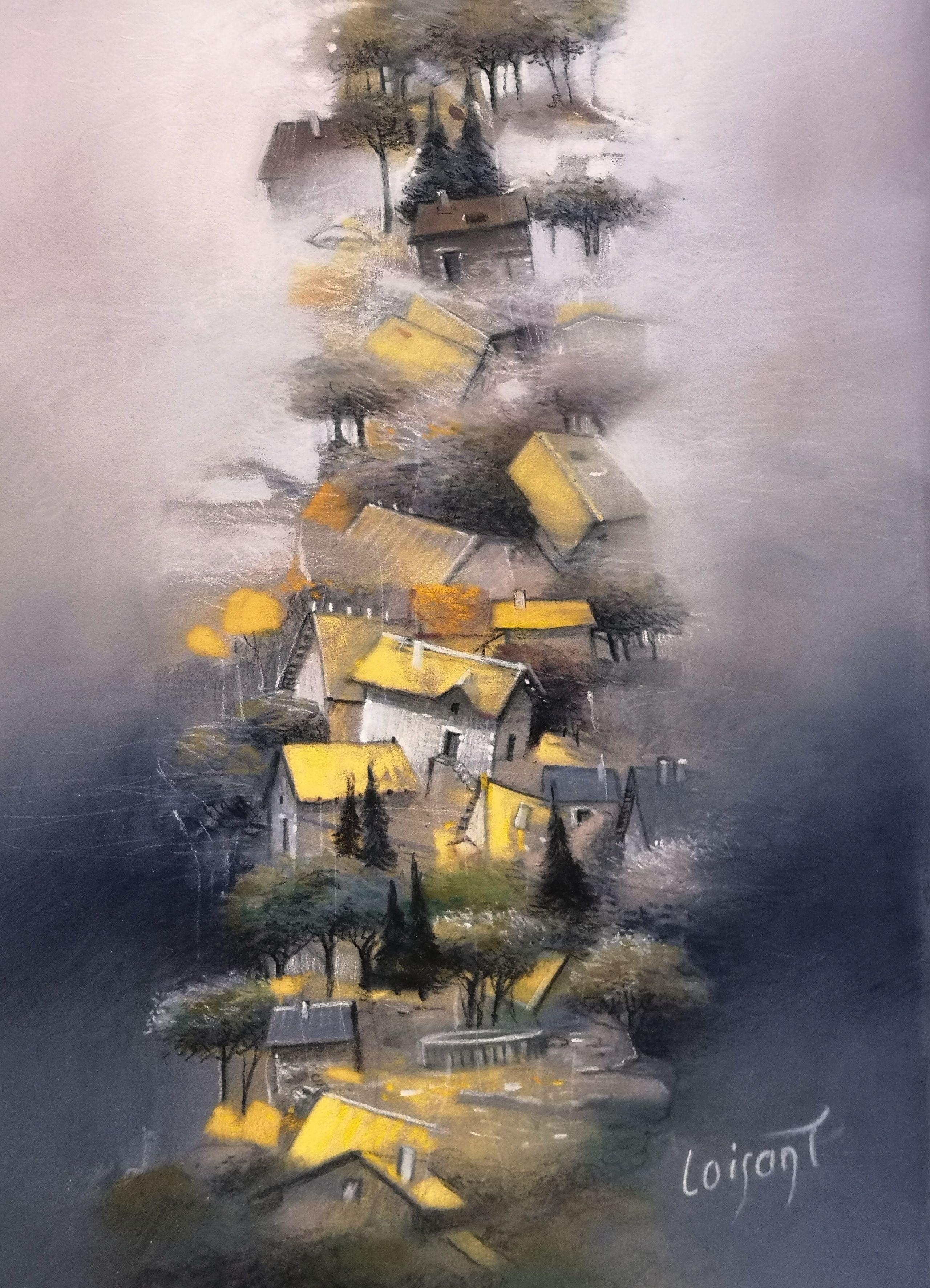 """""""Les toits jaunes"""" 20 x 30 cm"""