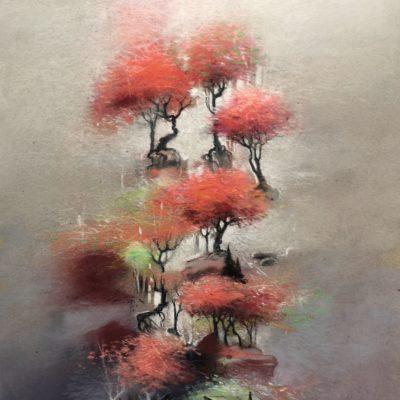"""""""Forêt rose verticale"""