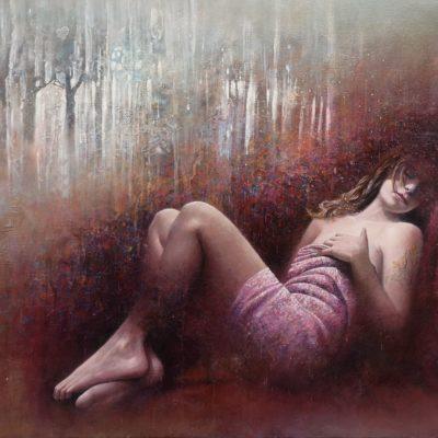 """""""Muse endormie"""" 100 x  72 cm"""